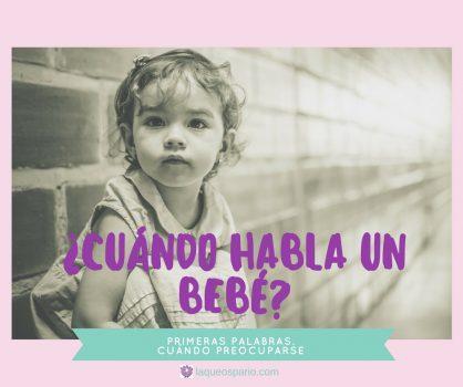 Cuándo habla un bebé